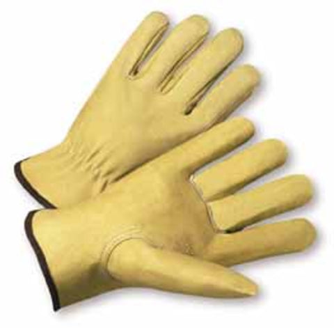 PIP® 2X Natural Select Grain Pigskin Unlined Drivers Gloves-Price is per 1 Pair