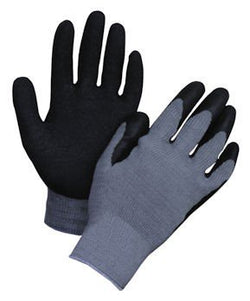 Honeywell 200-XL Tuff-Coat Coated-Palm General Purpose Gloves Size X-Large with Natural Rubber - Black/Gray