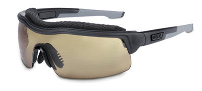 Uvex™ By Sperian ExtremePro™ Safety Glasses With Black And Gray Frame And Espresso Polycarbonate Supra-Dura® Anti-Scratch Hard Coat Lens