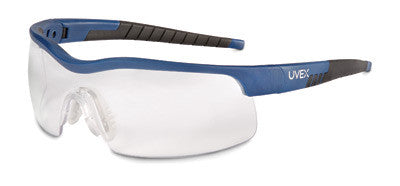 Uvex™ By Sperian VersaPro™ Safety Glasses With Blue And Black Frame, Clear Polycarbonate Uvextreme® Anti-Fog Lens And Medium Frame