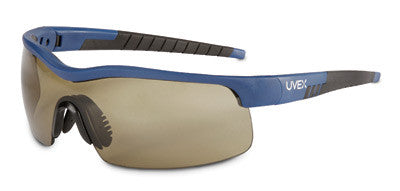 Uvex™ By Sperian VersaPro™ Safety Glasses With Blue And Black Frame, Espresso Polycarbonate Uvextreme® Anti-Fog Lens And Medium Frame