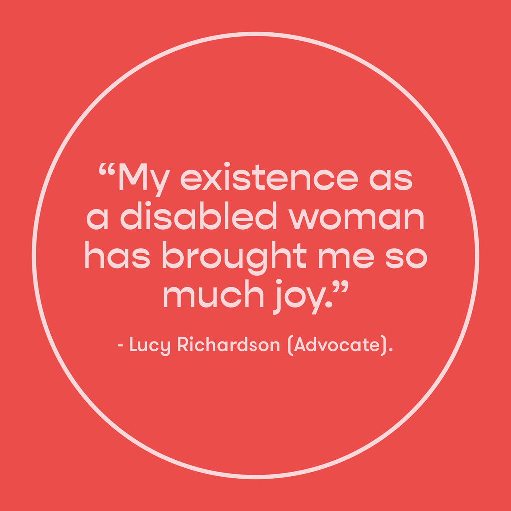 EveryHuman Blog - Identifying as Disabled - Lucy Richardson Quote