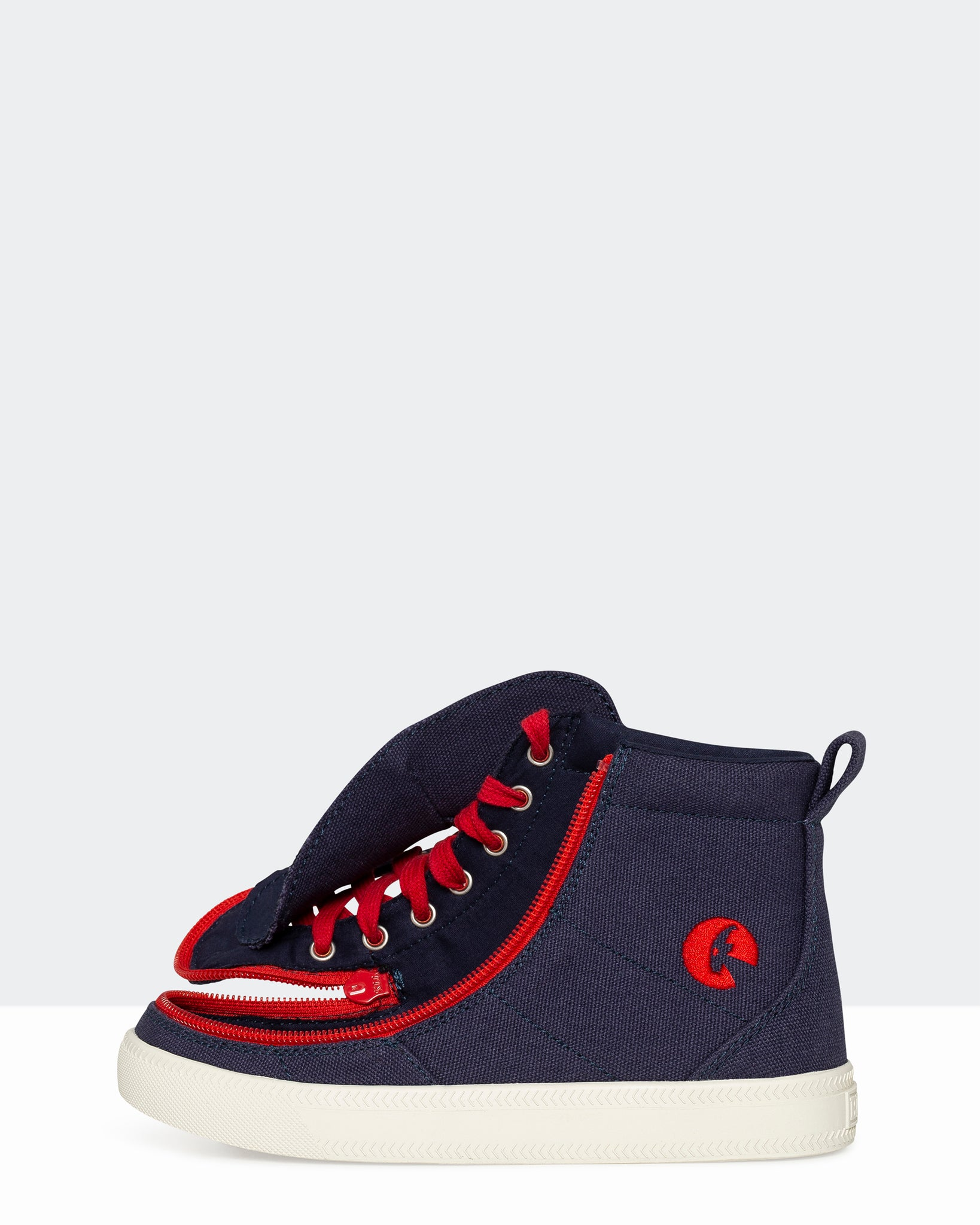 Classic High-Top Canvas Sneaker (Little Kid/ Big Kid) - Navy/Red