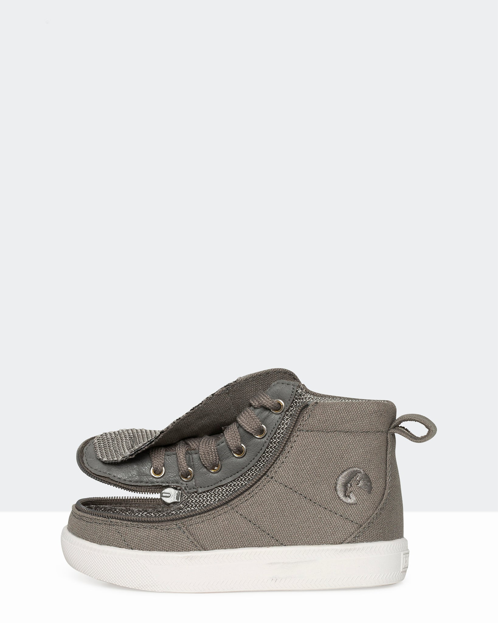 Wide High-Top Chambray Sneaker (Toddler) - Dark Grey