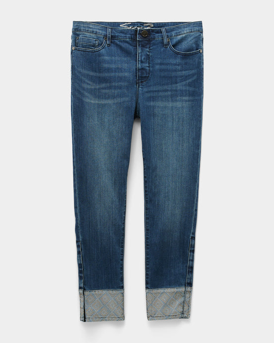 Adaptive Mid Rise Slim Ankle Jean