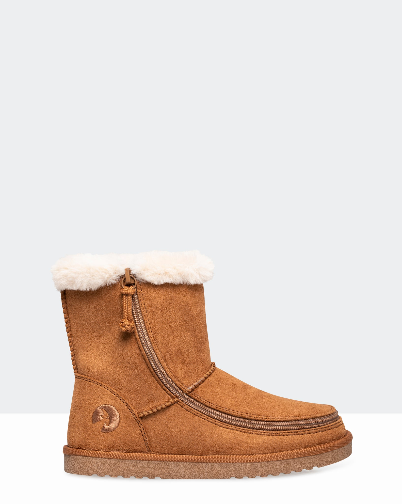 Faux Suede Cozy Boot (Little Kid/Big Kid) - Chestnut