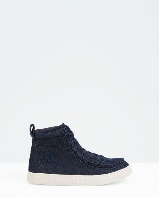 Classic High-Top Sneaker (Little Kid/Big Kid) - Denim Glitter