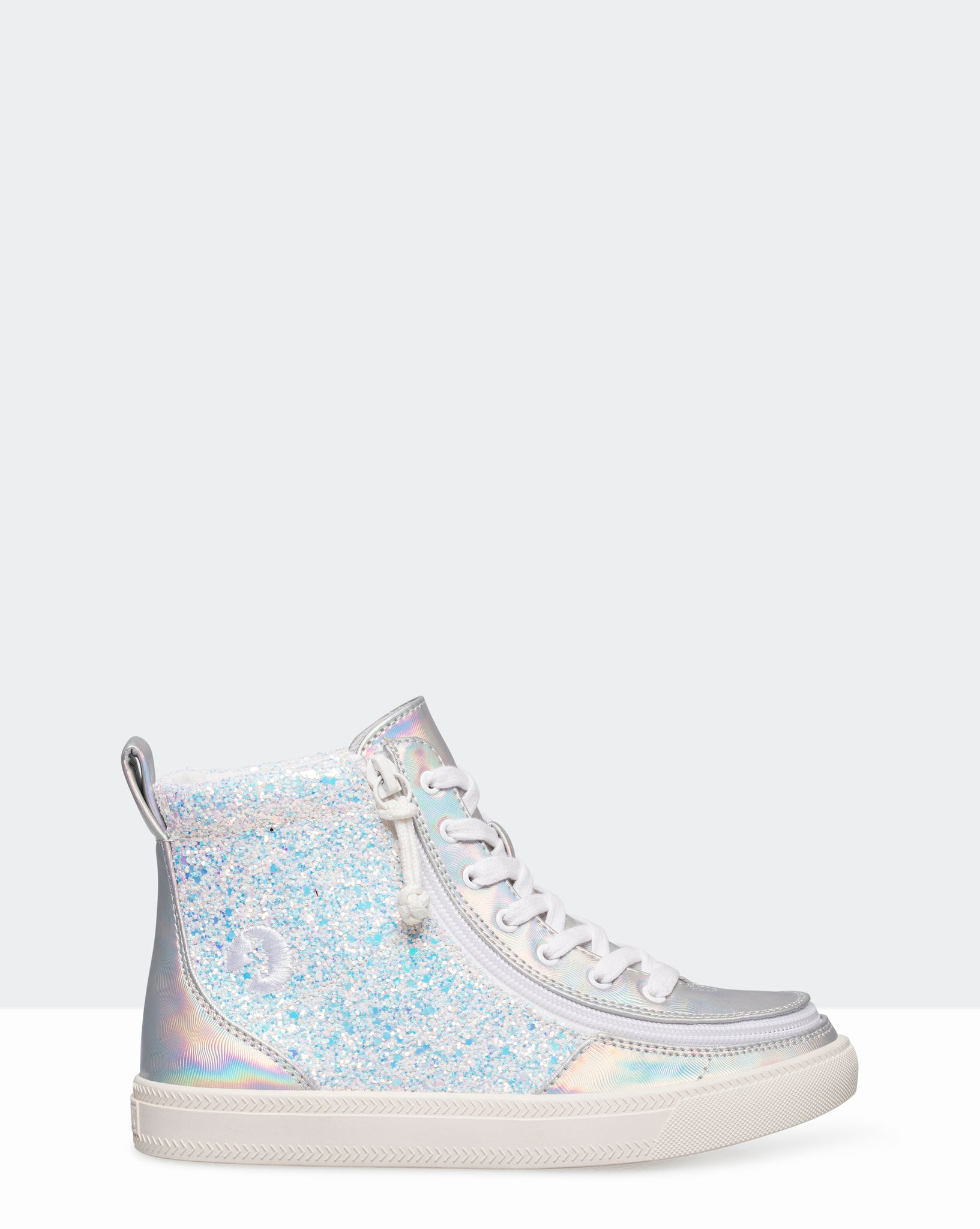 Classic High-Top Faux Leather Sneaker (Little Kid/Big Kid) - Unicorn Metallic Glitter