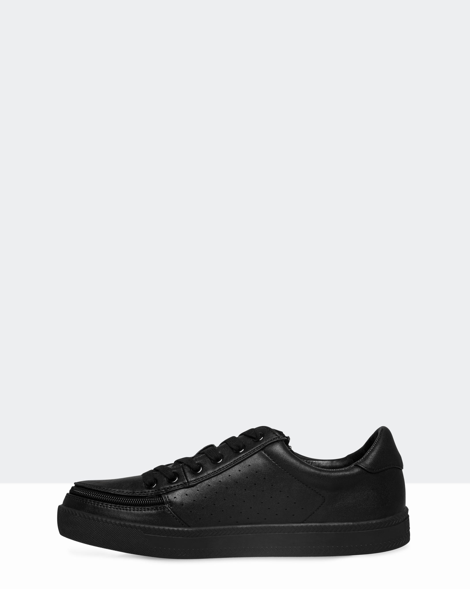 Faux Leather Sneaker (Men) - Black to the Floor