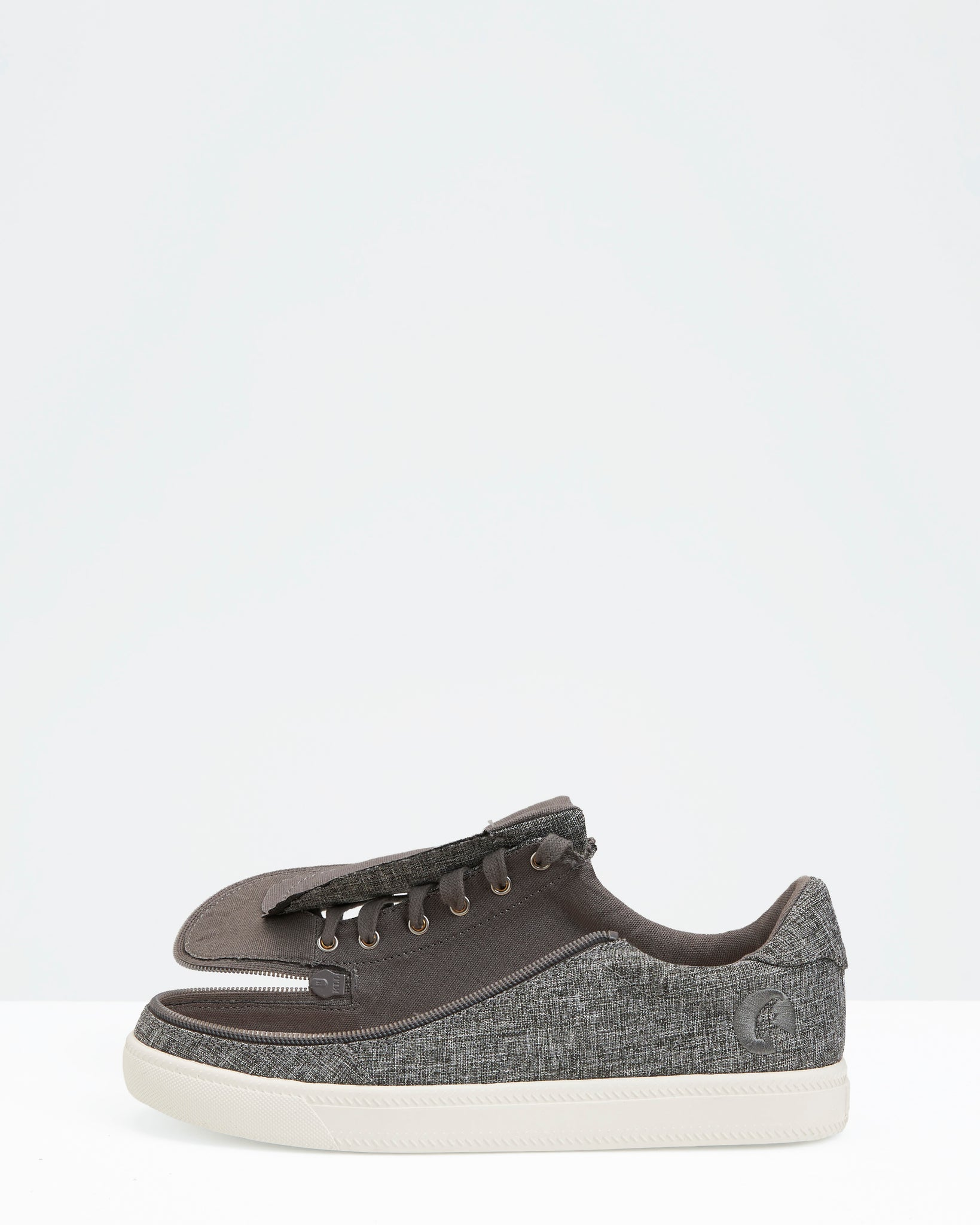 Classic Low-Rise Chambray Sneaker (Women) - Charcoal