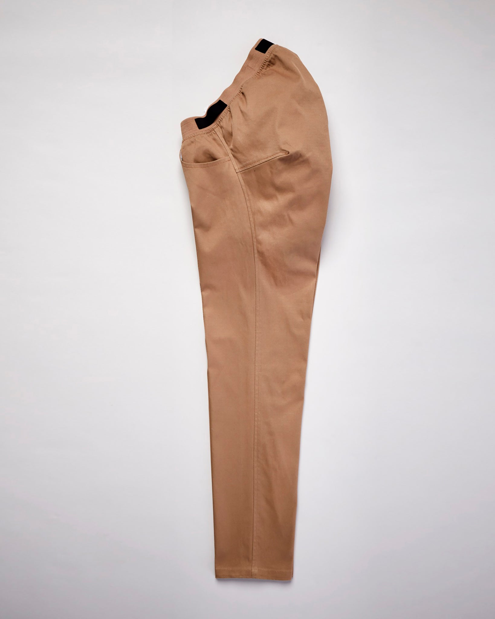 Seated Chino Elastic Waist - Khaki