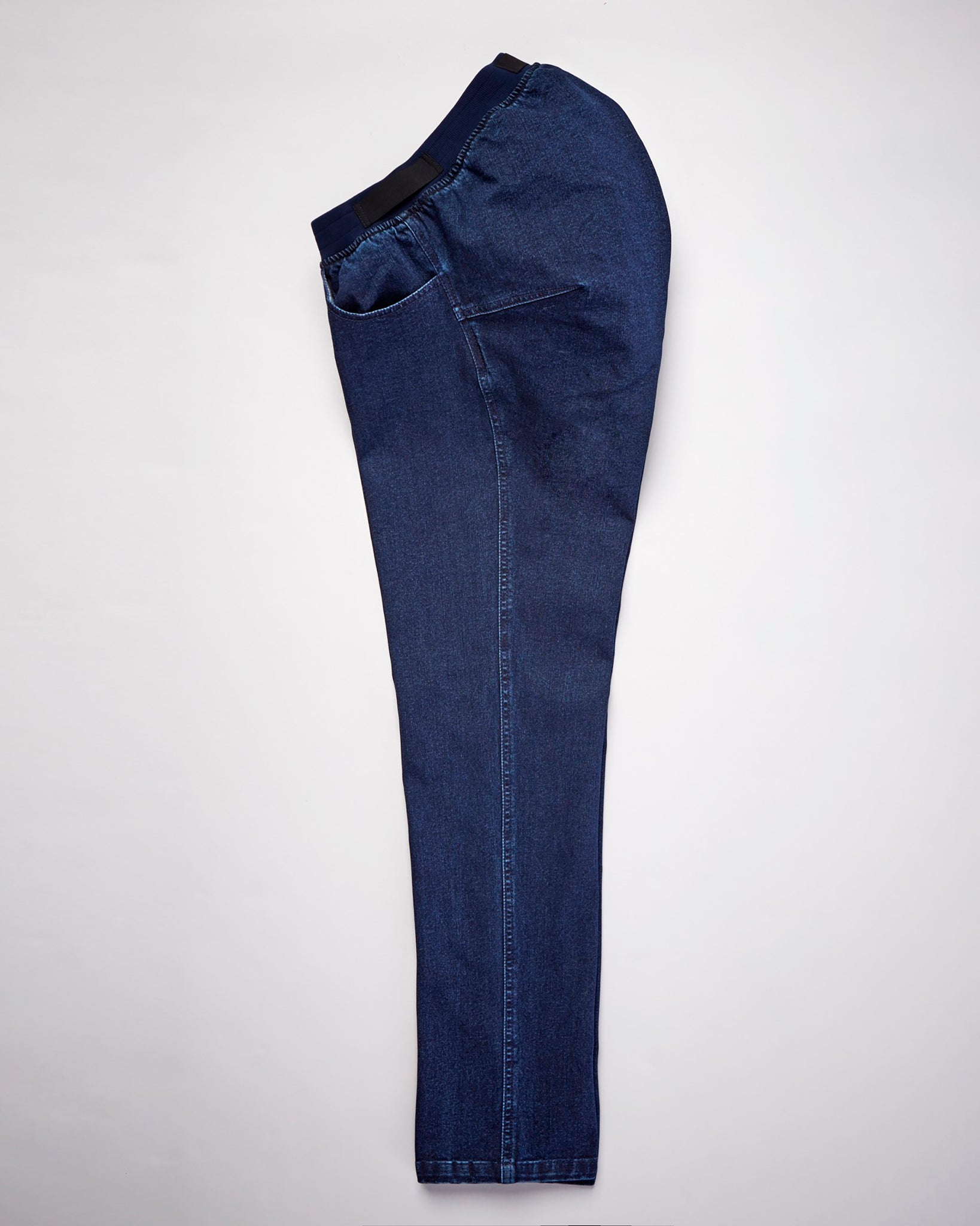 Stretch Denim Seated Jean Elastic Waist - Indigo