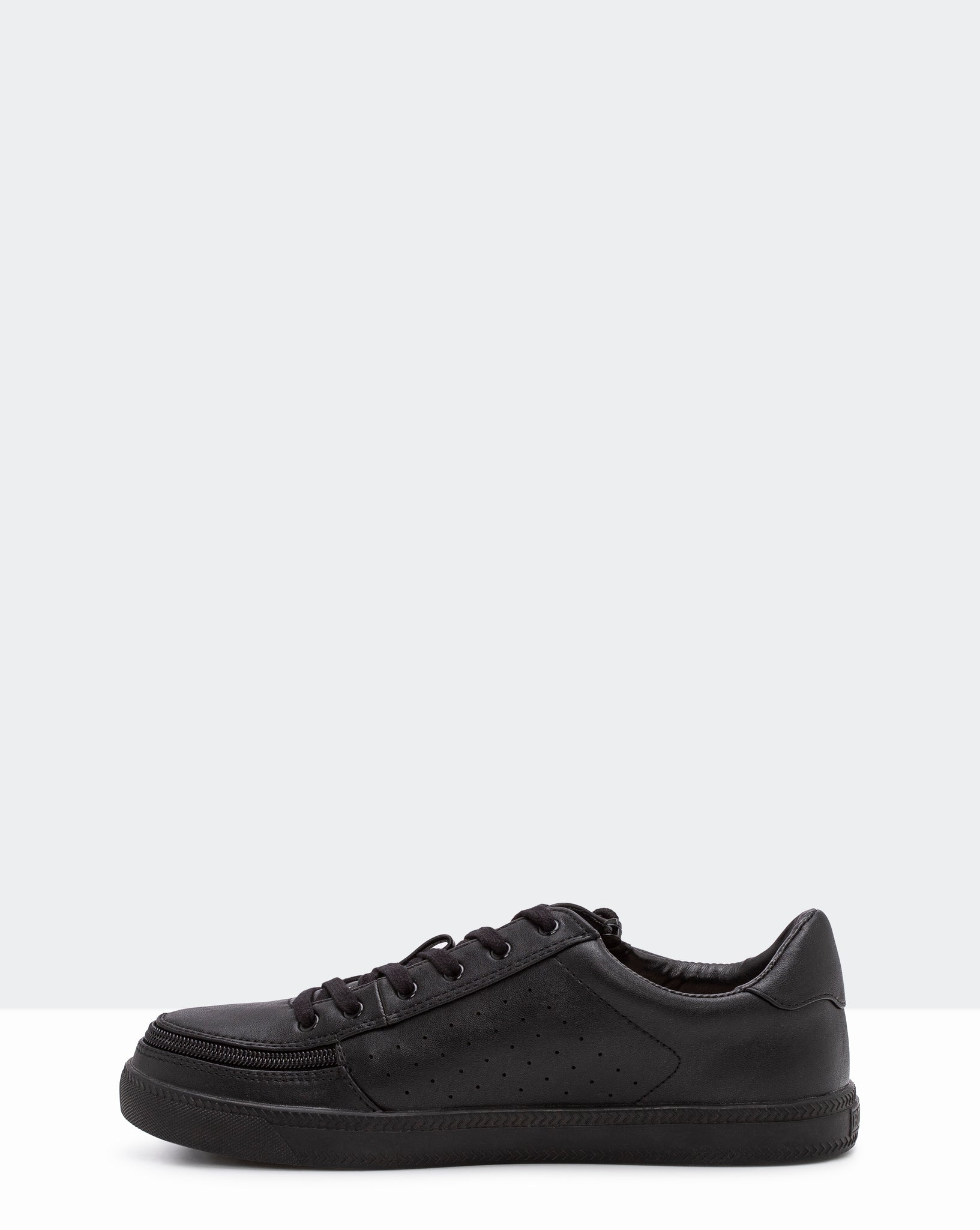 Faux Leather Sneaker (Women) - Black to the Floor