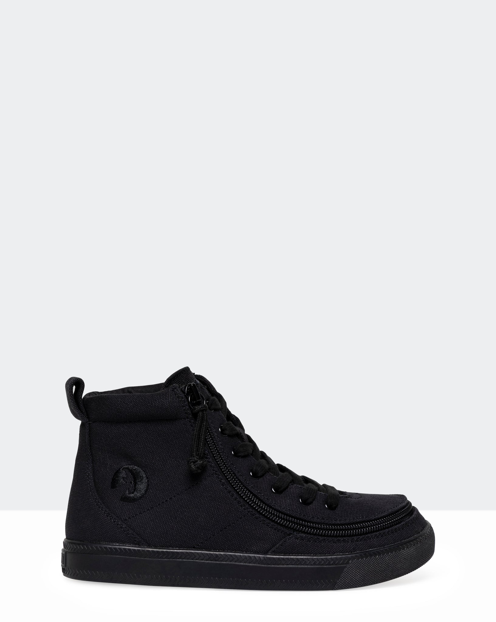 Classic High-Top Canvas Sneaker (Little Kid/Big Kid) - Black to the Floor