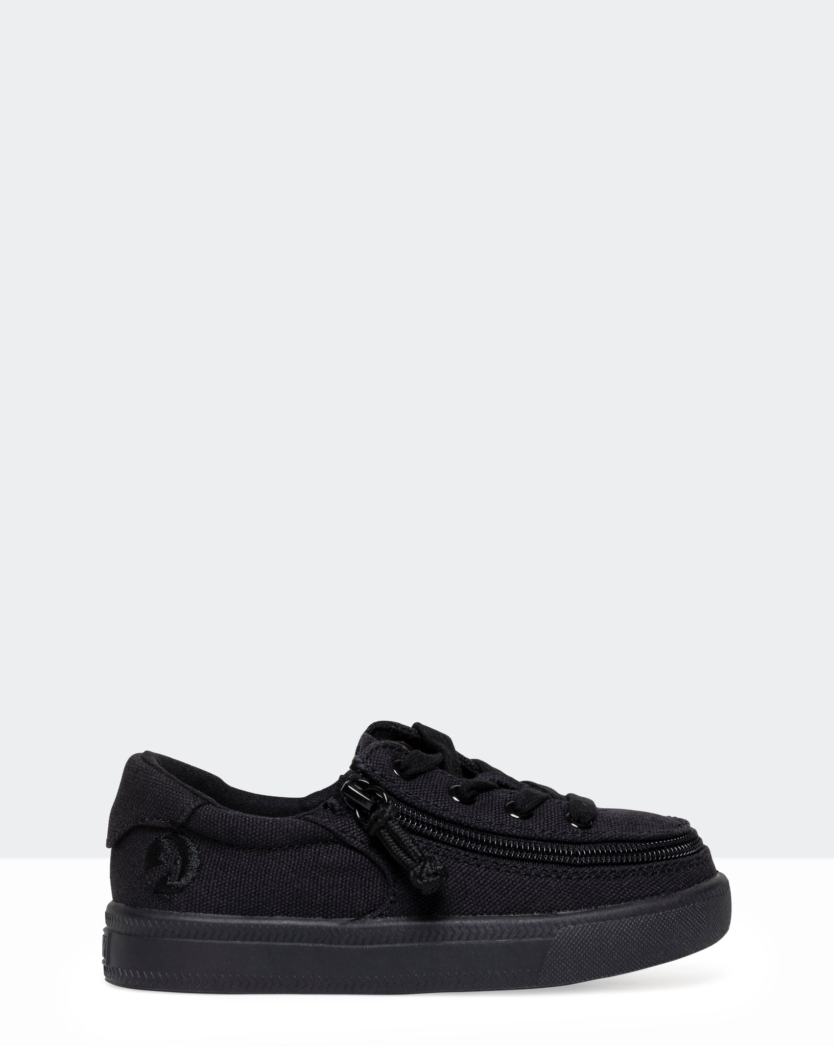 Classic Low-Rise Canvas Sneaker (Toddler) - Black to the Floor
