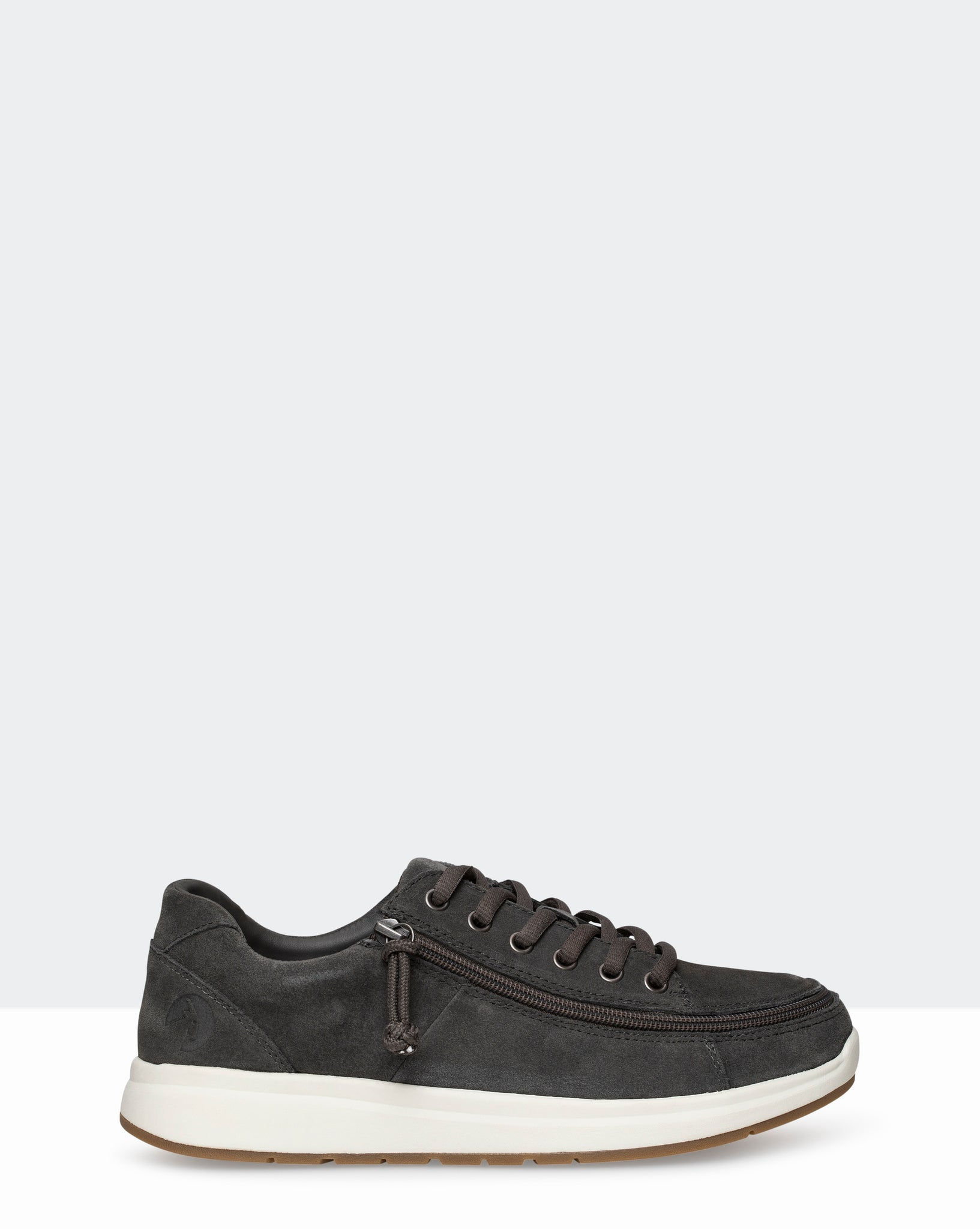 Suede Comfort Wide Sneaker (Men) - Grey