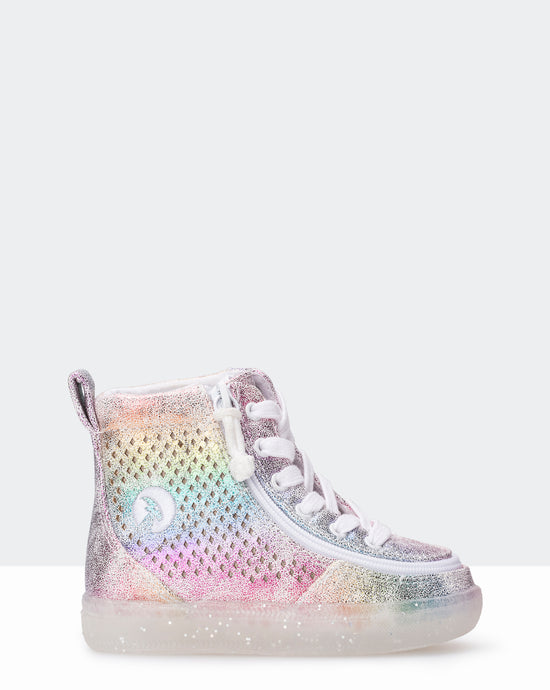 Classic High-Top Sneaker (Toddler) - Rainbow Crackle