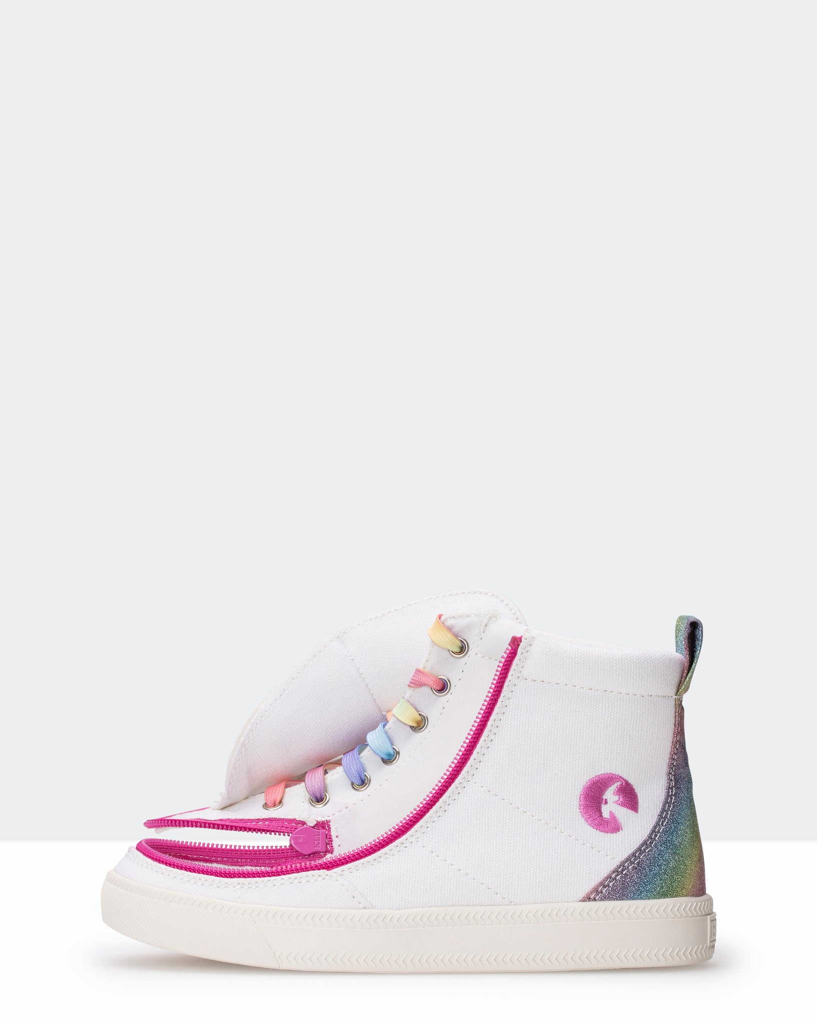 Classic High-Top Canvas Sneaker (Little Kid/Big Kid) - Rainbow White