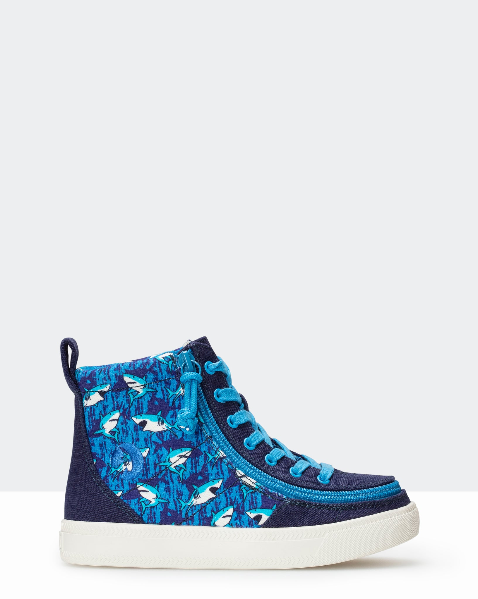 Classic High-Top Sneaker (Little Kid/Big Kid) - Blue Sharks