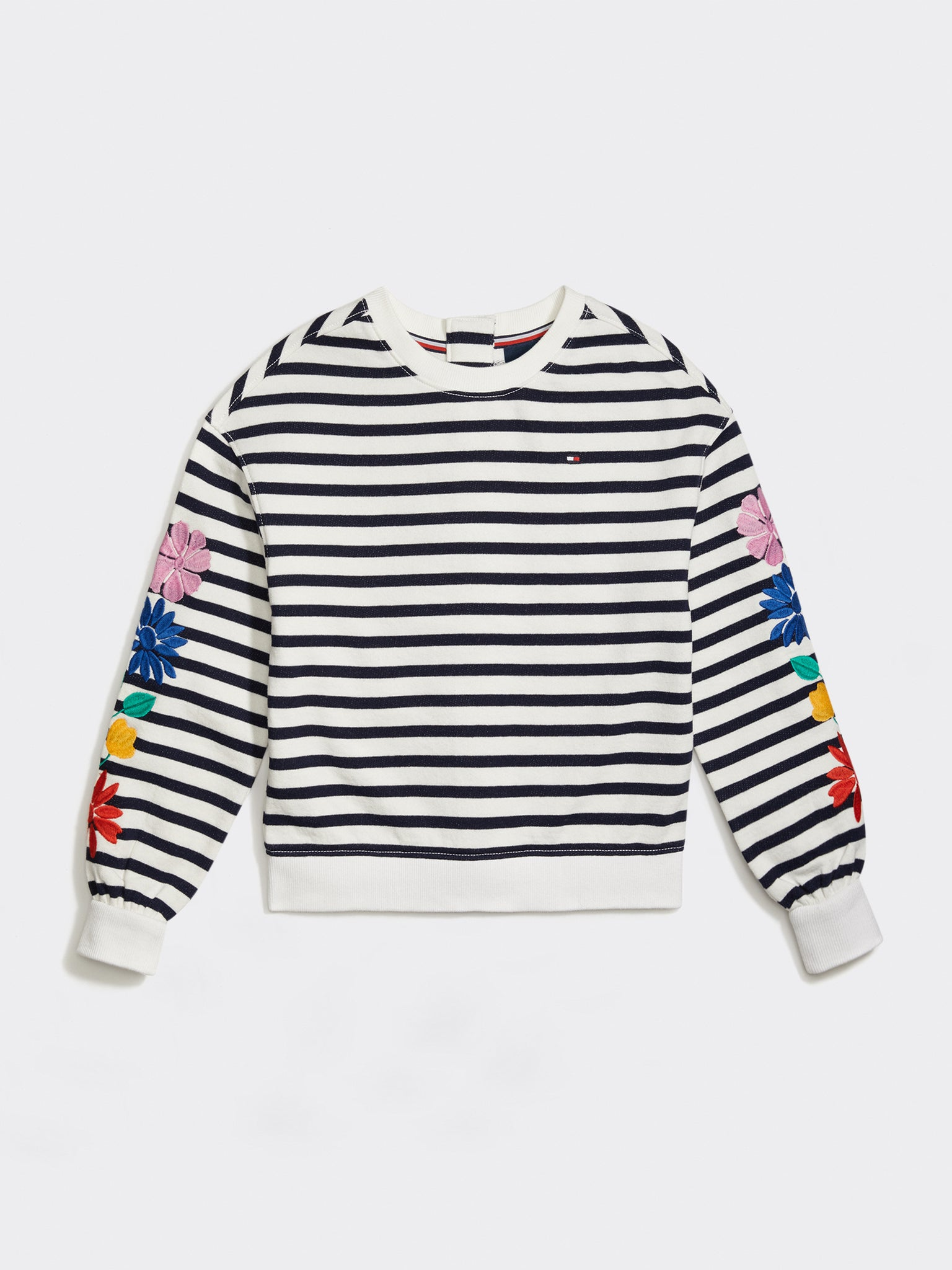 Seated Knit Sweatshirt (Girls) - Striped