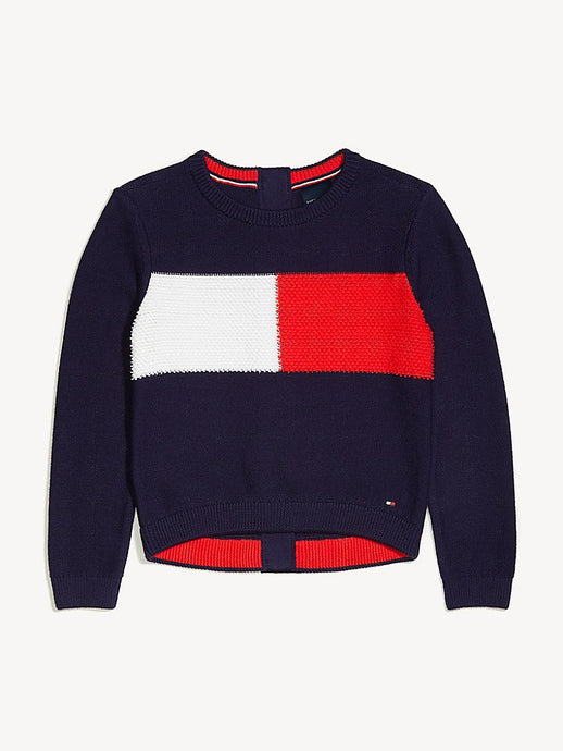Seated TH Sweatshirt (Girls) - Navy/White/Red