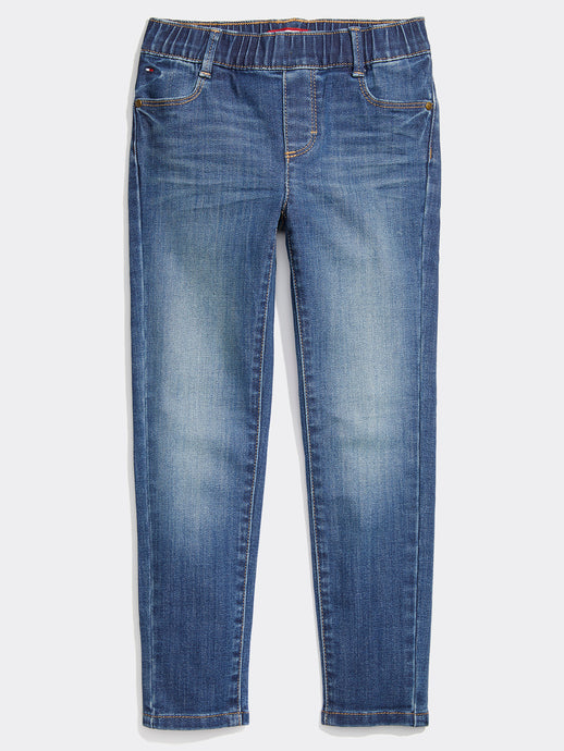 Seated Slim Jeans (Girls) - Light Wash
