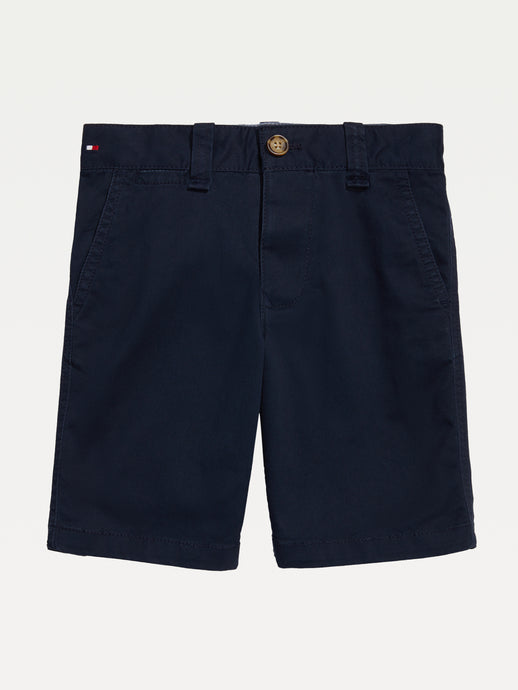 Tommy Flat Front Shorts (Boys) - Navy