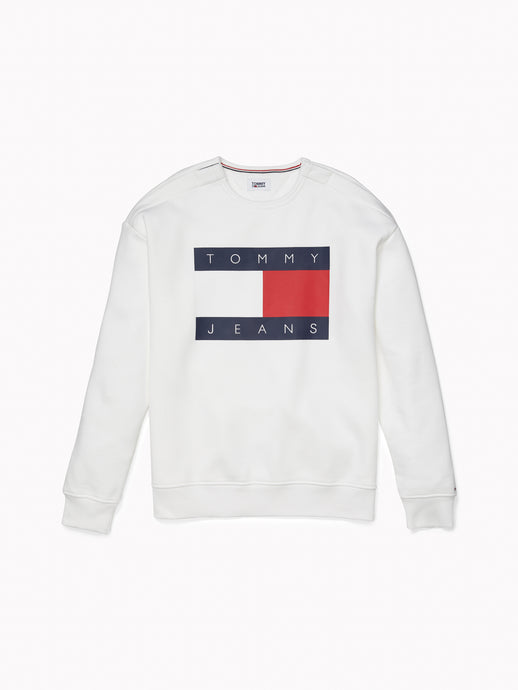 Tommy Block Logo Sweatshirt - White