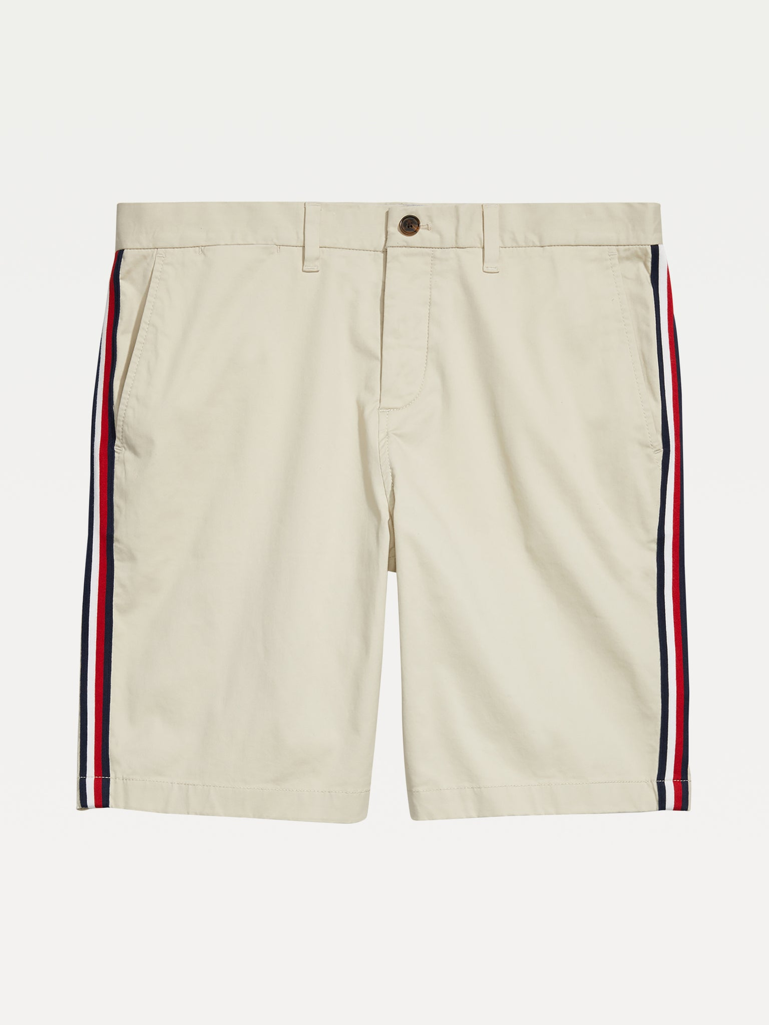 Signature Stripe Short - Oyster White