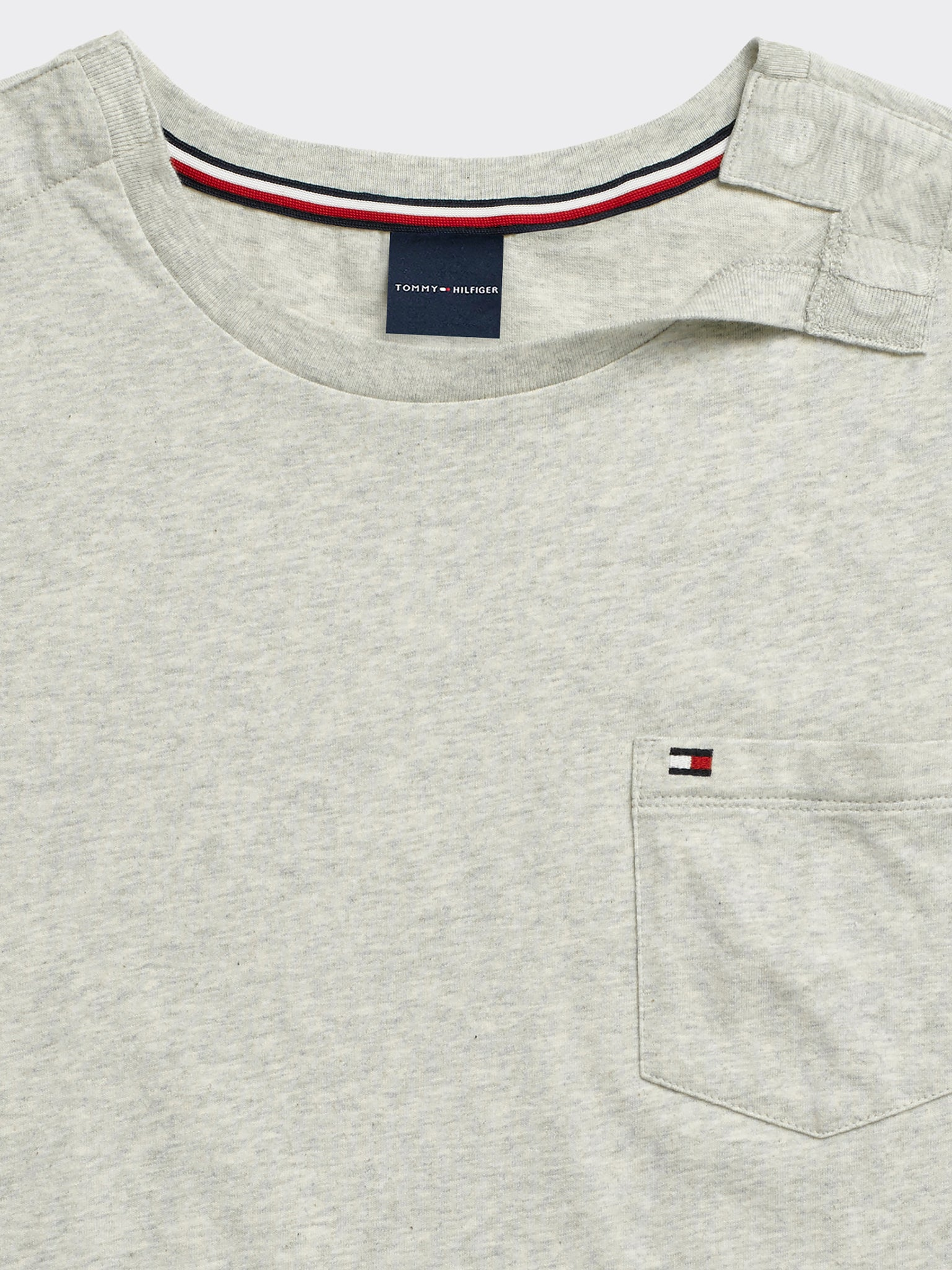 Tommy Pocket Crew T-Shirt - Grey