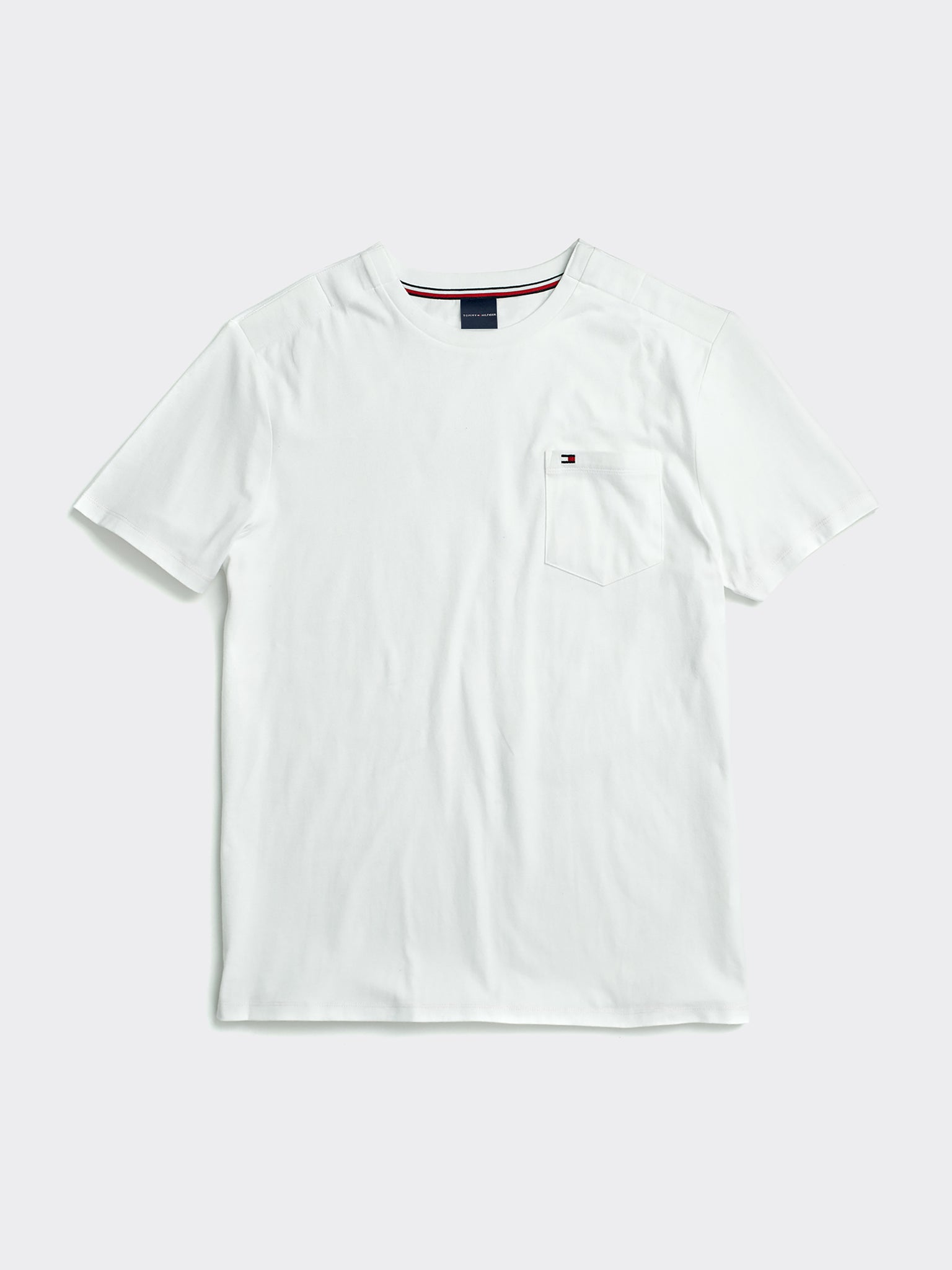 Tommy Pocket Crew T-Shirt - White