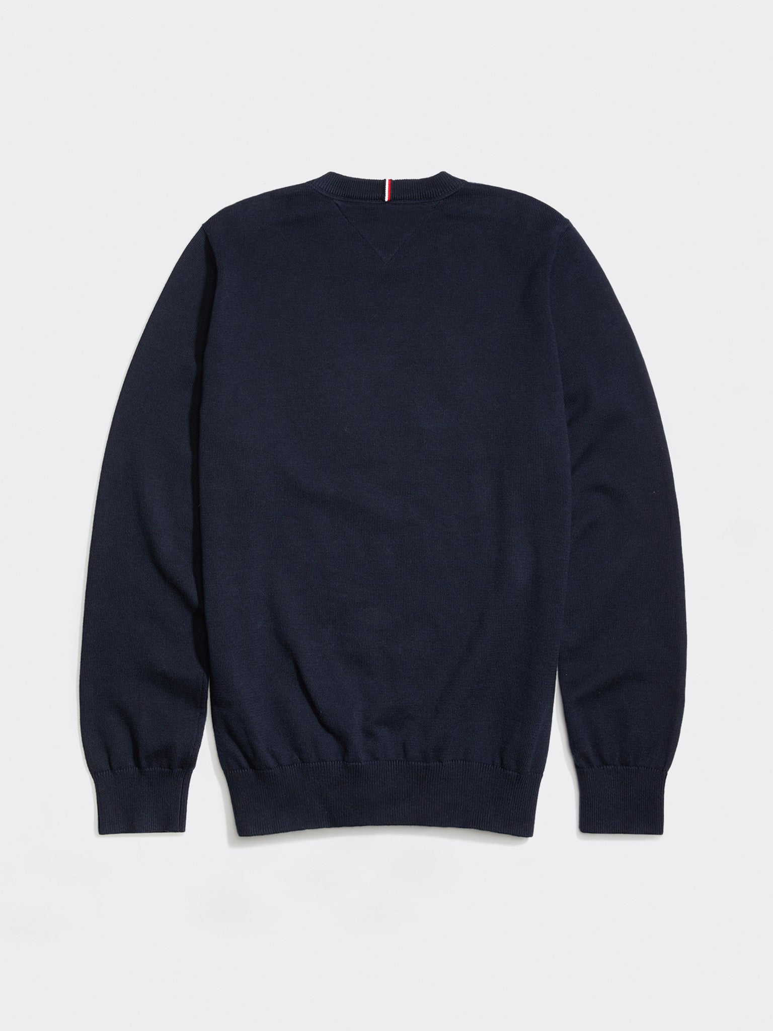 Tommy Signature Flag Crew Neck Jumper - Navy