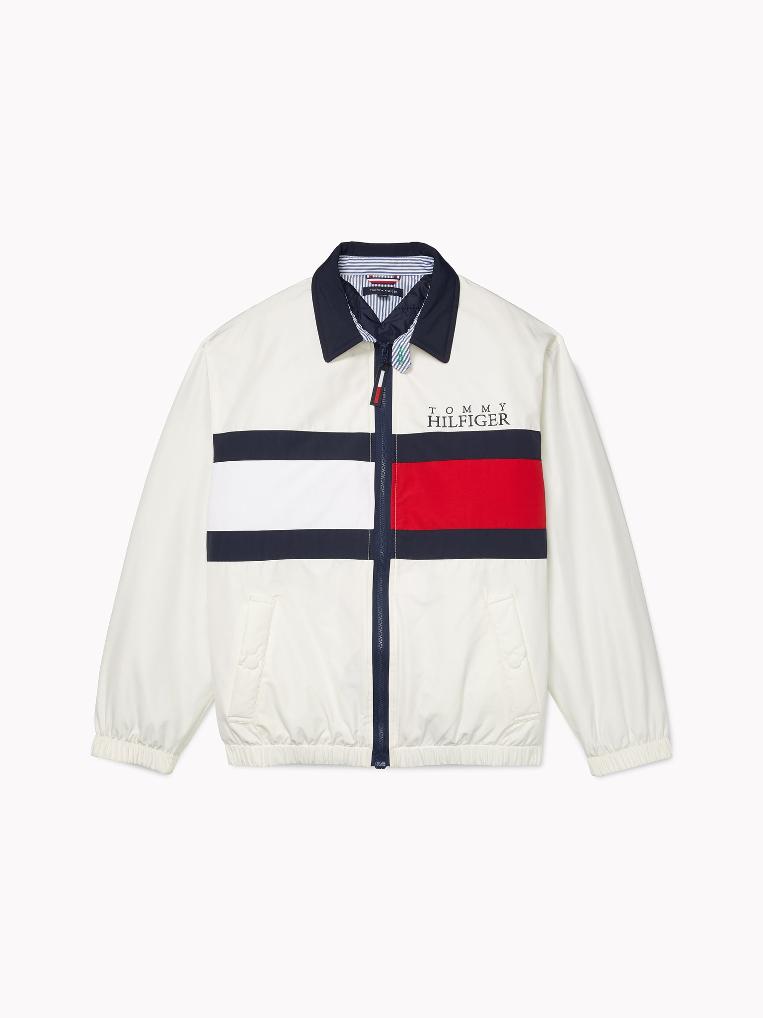 Tommy Flag Jacket - White