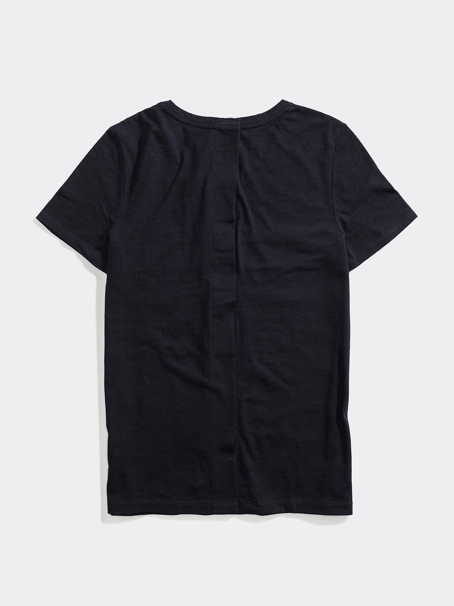 Tommy Seated Stripe Crew Tee - Navy