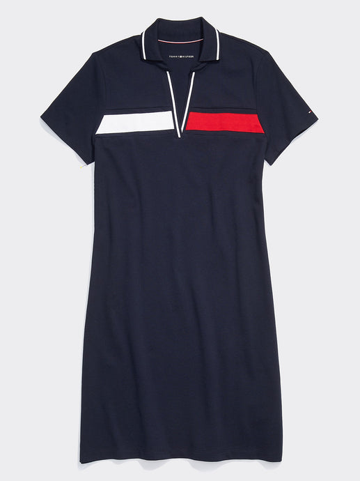 Tommy Stripe Dress - Navy