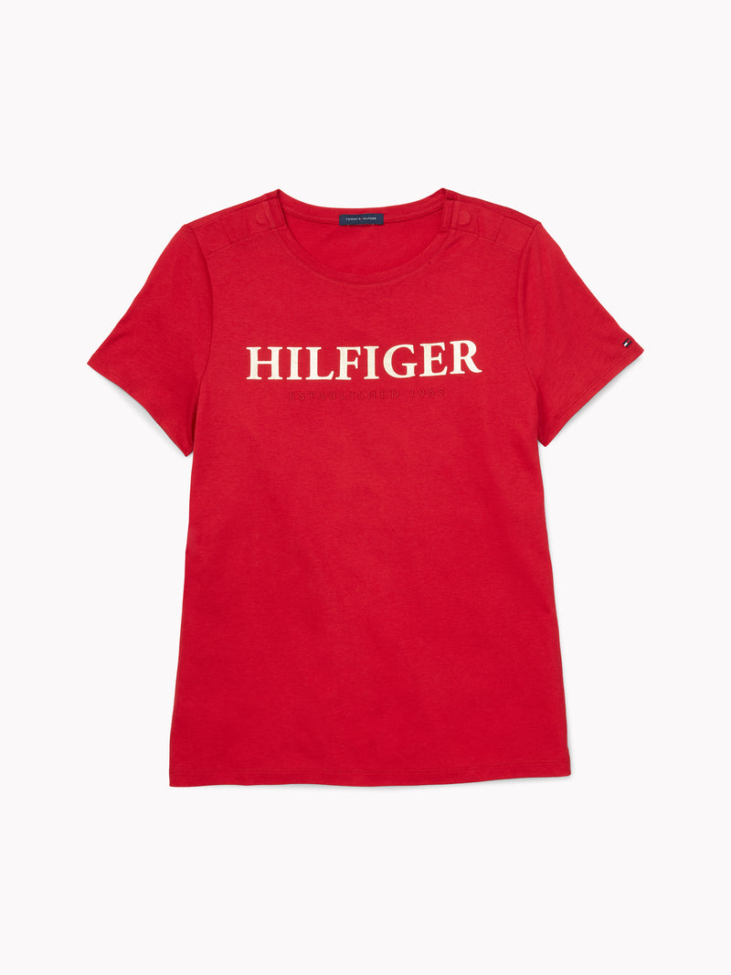 Hilfiger Logo T-Shirt - Red