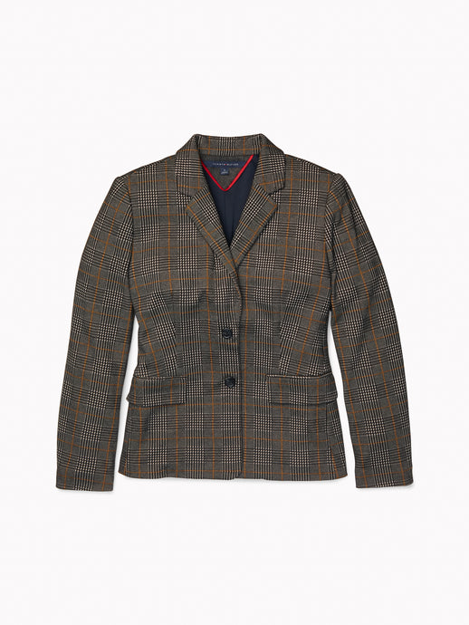 Empire Blazer - Plaid
