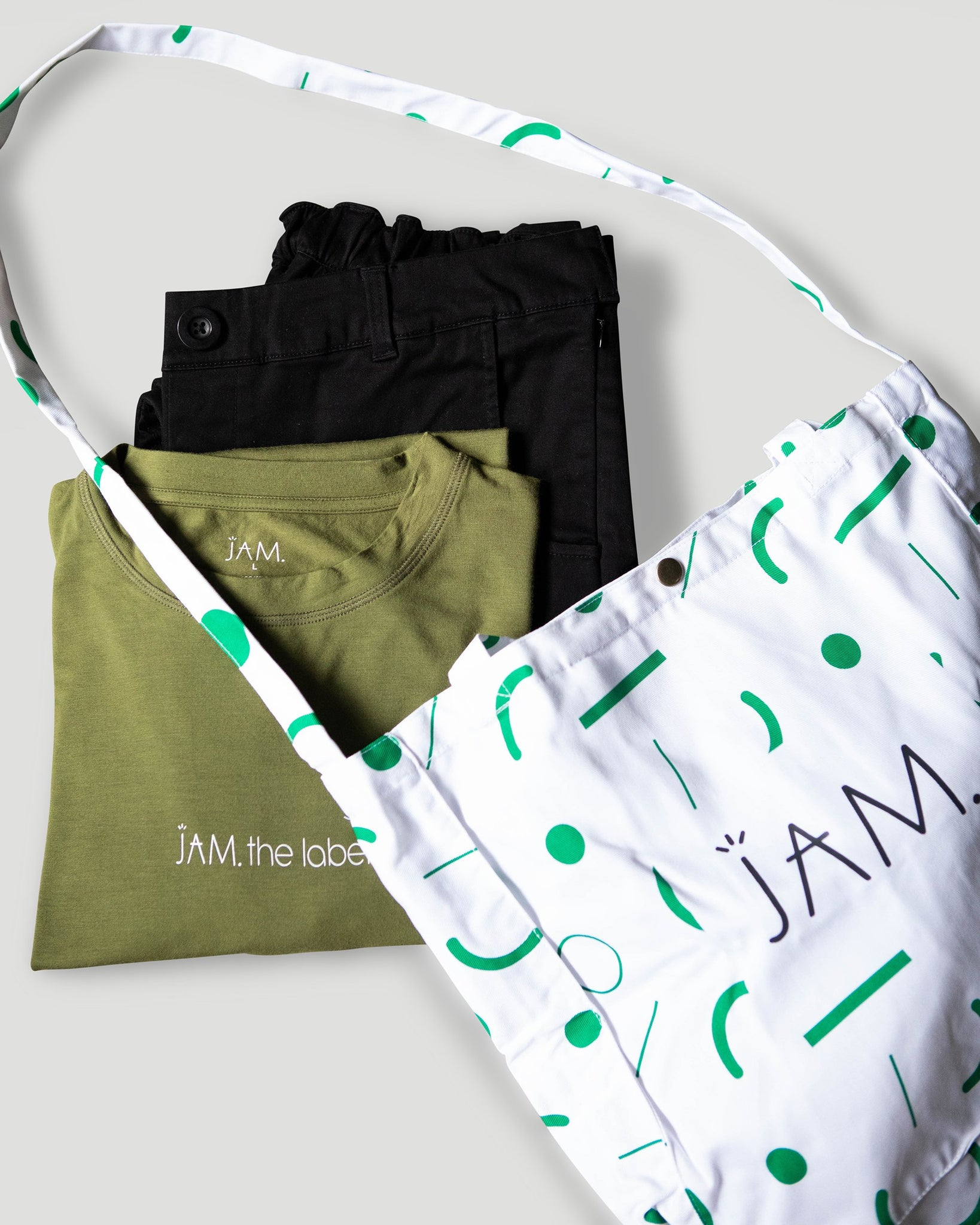 Tote Bag - Green Confetti