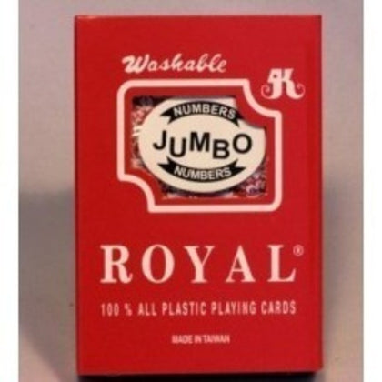 Playing Cards with Jumbo Numbers 100% Plastic