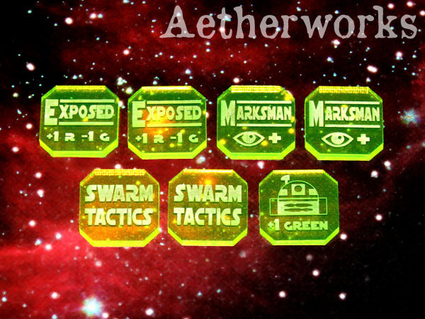 Aetherworks Upgrade Tokens - Flourescent Green (7 Pack)