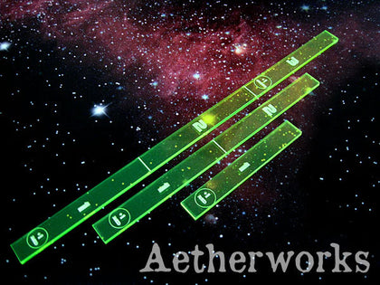 Aetherworks Range Ruler - Flourescent Green (3 Pack)