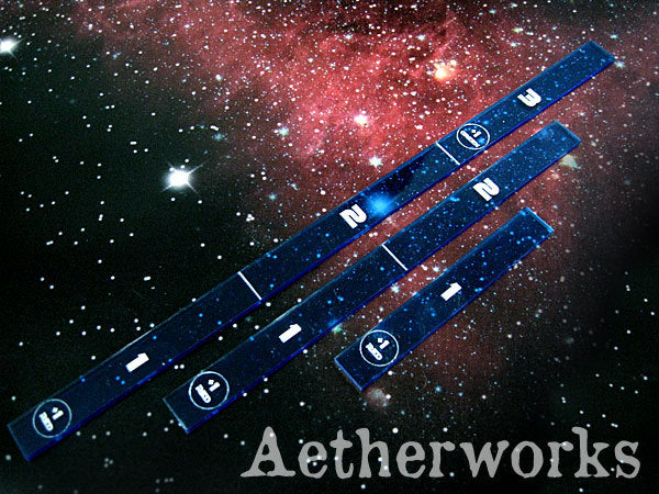 Aetherworks Range Ruler - Transparent Blue (3 Pack)