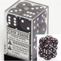 Chessex Opaque 16mm D6 Dice Block: Black/White