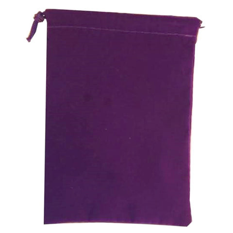 Suede Cloth Dice Bag (Large, Purple)