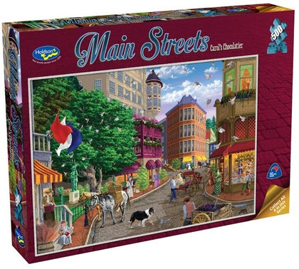 Holdson: 500pce Puzzles - Main Streets Carol's Chocolatier