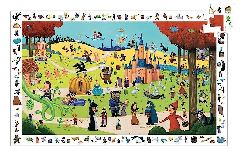 Djeco: 100pc Puzzle - Fairy Tales