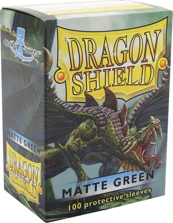 Dragon Shield Matte Green Card Sleeves
