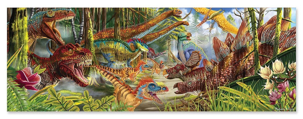 Melissa & Doug: World Floor Puzzle - Dinosaurs