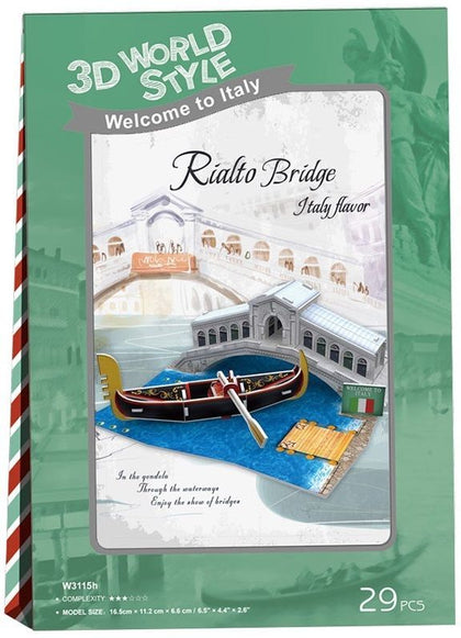 3D World Style -Italian Rialto Bridge