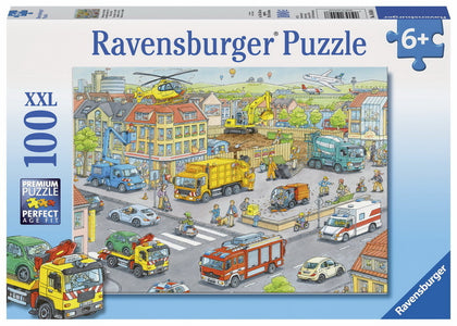 Ravensburger - Vehicles In The City Puzzle (100pc)